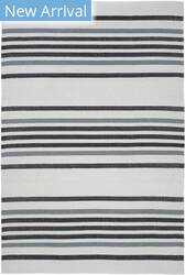 Trans-Ocean Plaza Stripe 7858/48 Black Area Rug