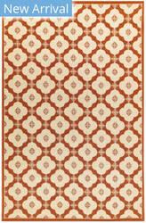 Trans-Ocean Riviera Modern Tile 7635/24 Red Area Rug