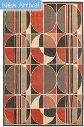 Trans-Ocean Riviera Circles 7636/24 Red Area Rug