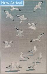 Trans-Ocean Riviera Seagulls 7651/04 Blue Area Rug