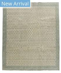 Tufenkian Knotted Boteh Teal Area Rug