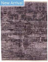 Tufenkian Knotted Network Amethyst Area Rug