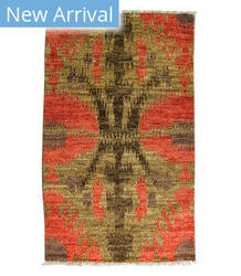 Tufenkian Knotted Abbas Coral Area Rug