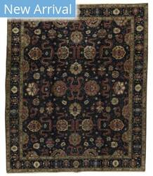 Tufenkian Knotted Cloudband Sheared Black Area Rug