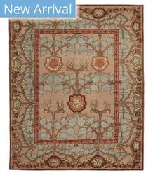 Tufenkian Tibetan Inverness Blue Quartz Area Rug