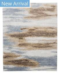 Tufenkian Knotted Stratos Brown Blue Area Rug