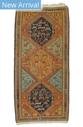 Tufenkian Knotted Armenian Soumakh Brown Area Rug