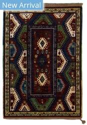 Tufenkian Knotted Bordjalu Red/Olive Area Rug