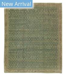 Tufenkian Knotted Boteh Blue Area Rug