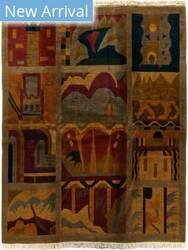 Tufenkian Tibetan Deco Panel Fresco Area Rug