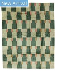 Tufenkian Tibetan Double Square Green Area Rug