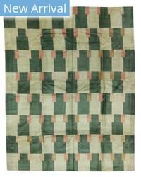 Tufenkian Tibetan Double Square Green Area Rug