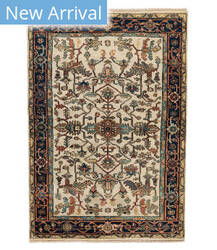 Tufenkian Knotted Jt03 Ivory/Navy Area Rug