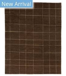 Tufenkian Tibetan Screen Cut Brown Area Rug
