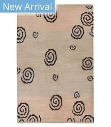 Tufenkian Tibetan Spiral Black/Beige Area Rug