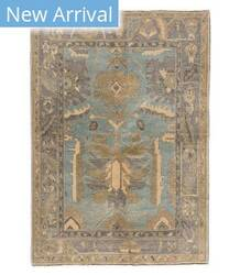 Tufenkian Knotted Navereh Light Blue/Brown Area Rug