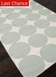 Rugstudio Sample Sale 81846R White / Pastel Blue Area Rug