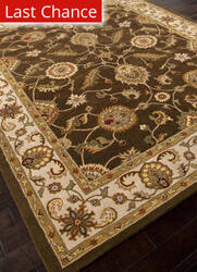Rugstudio Sample Sale 82224R Cocoa Brown/Dark Ivory Area Rug