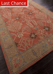 Rugstudio Sample Sale 82261R Orange Rust/Gold Brown Area Rug