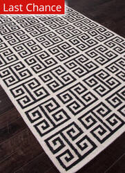 Rugstudio Sample Sale 81962R Antique White / Ebony Area Rug
