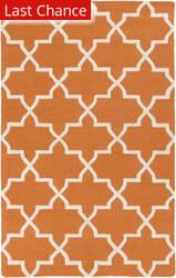 Rugstudio Sample Sale 112291R Orange/White Area Rug