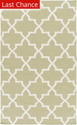 Rugstudio Sample Sale 112314R Sage/White Area Rug