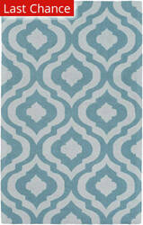 Rugstudio Sample Sale 150118R Teal - Ivory Area Rug