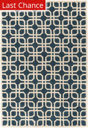 Rugstudio Sample Sale 125938R Blue - Ivory Area Rug