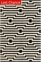 Rugstudio Sample Sale 137580R Black - Ivory Area Rug