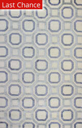Rugstudio Sample Sale 159220R Ivory - Blue Area Rug