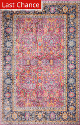 Rugstudio Sample Sale 193787R Fuchsia Area Rug