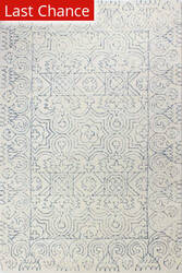 Rugstudio Sample Sale 183250R Ivory - Teal Area Rug