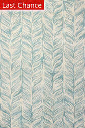 Rugstudio Sample Sale 159055R Ivory - Aqua Area Rug