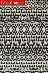 Rugstudio Sample Sale 127631R Ivory - Black Area Rug