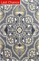Rugstudio Sample Sale 158102R Pewter Area Rug