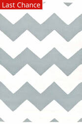 Rugstudio Sample Sale 81769R White / Light Blue Area Rug