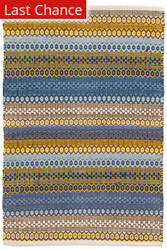 Dash And Albert Gypsy Cotton Denim - Yellow Area Rug