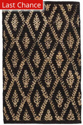 Rugstudio Sample Sale 185288R Black - Natural Area Rug