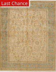 Rugstudio Sample Sale 168063R Cream - Aqua Area Rug