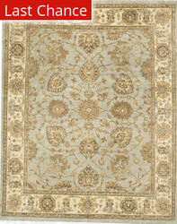 Rugstudio Sample Sale 168344R Light Blue - Cream Area Rug