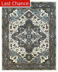 Rugstudio Sample Sale 168462R Ivory - Frost Grey Area Rug