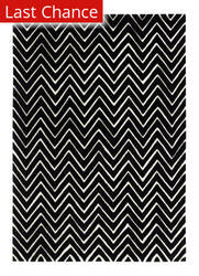 Rugstudio Sample Sale 68665R Black / Ivory Area Rug