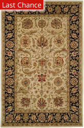 Rugstudio Sample Sale 23969R Ivory-Black Area Rug