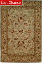 Rugstudio Sample Sale 23971R Light Blue-Gold Area Rug