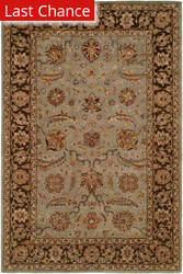 Rugstudio Sample Sale 64099R Light Blue/Brown Area Rug