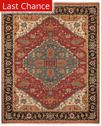 Rugstudio Sample Sale 184871R Red - Black Area Rug