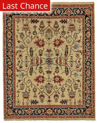 Rugstudio Sample Sale 185230R Camel - Black Area Rug