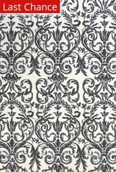 Rugstudio Sample Sale 184764R Slate - White Area Rug