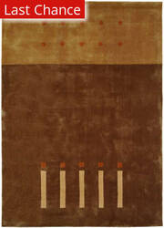 Rugstudio Sample Sale 59569R Brown Area Rug