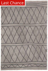Rugstudio Sample Sale 196492R Light Gray - Dark Gray Area Rug